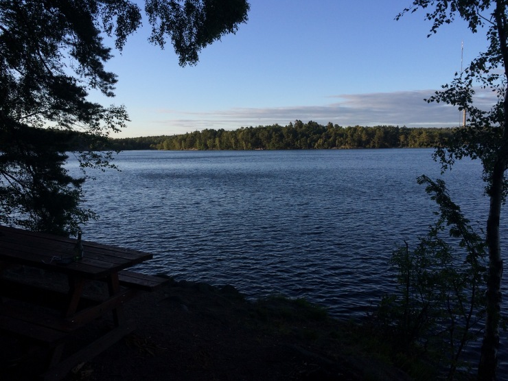 Sonnenuntergang am Stora Delsjön